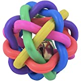 SRI Imported High Quality Dog Multi Color Wire Ball With Bell Dog Toy Small