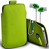 ( Green + Ear phone 142 x 72 ) Pouch case for Medion X5004