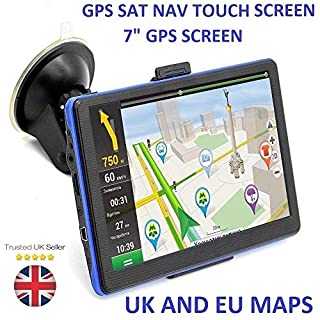AUTOMATE® 7 Inches Car Touchscreen GPS Sat Nav Navigation System Include UK EU America 2018 Maps 8GB No need to insert a card
