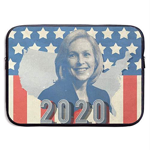 Benutzerdefinierte Laptop-Hülle 13/15 Zoll Chromebook Reißverschluss Aktentasche 2020 American Kirsten Gillibrand Print tragbare Umhängetasche, 13 Zoll