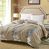 Unbekannt WLL Modernen Minimalistischen Stil Gestreifte Blumen/Blumen 100% Baumwolle Bettbezug - Ich 220*240 cm (87 x 94 Zoll)