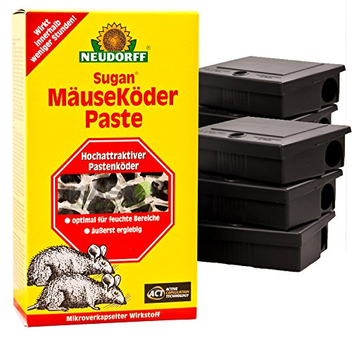 Sugan MäuseKöder Set (200g Paste, 6 Köderboxen)