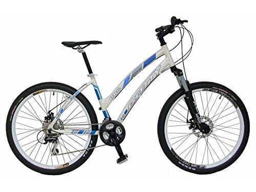 Bicicleta de montaña MTB mujer Gotty CRS, aluminio 26″, con suspensión de aluminio regulable, cambio de 21 velocidades y frenos de disco.