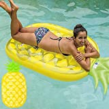 "Fineway. Jumbo Inflatable Pineapple Pop Lounger Air Mat Float Lilo Swimming Pool Mattress-Size 190cm x 87cm (74.5"" x 34"")"