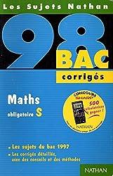 Bac 1998 : Maths, sujets corrigés