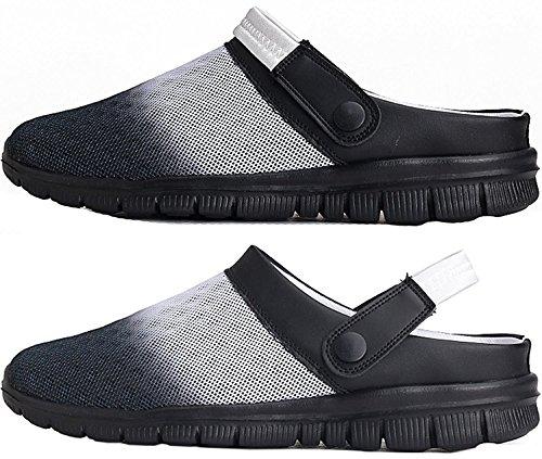 Oderola Herren Damen Clogs Pantoletten Hausschuhe Outdoor Sandale Schuhe Sommer Schwarz