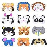 12 máscaras de animales de espuma con cuerda elástica, varios regalos de fiesta, cumpleaños escenarios actuaciones temáticas fiesta