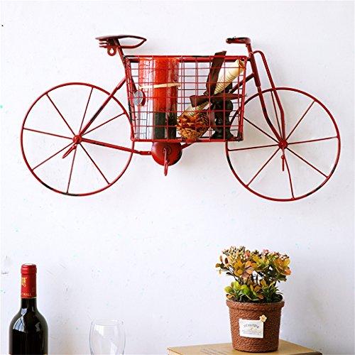 Mensola a muro modello creativo per biciclette in metallo per soggiorno bar | Mensola pensile a parete LOFT per camera da letto come scaffale per libreria | Telaio a struttura fluttuante come decorazione della parete Design Stile industriale vintage ( Colore : Rosso )