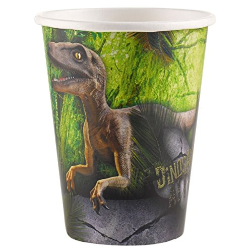 dinosaur-attack-party-paper-cups-pack-of-8-by-amscan-international-brand-new-range-for-2016