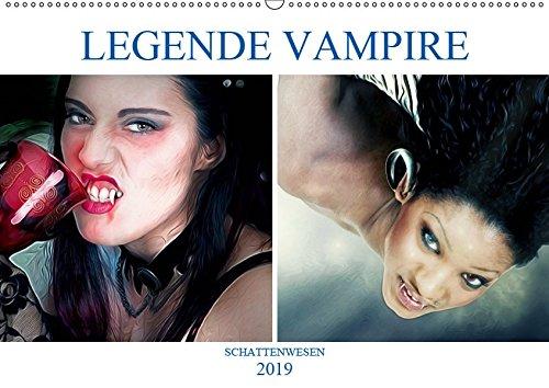 Legende Vampire (Wandkalender 2019 DIN A2 quer): Die unsterblichen Wesen (Monatskalender, 14 Seiten ) (CALVENDO Menschen)