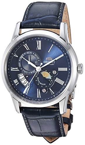 Orient Men's Analog Japanese-Automatic Watch with Leather Calfskin Strap FAK00005D0