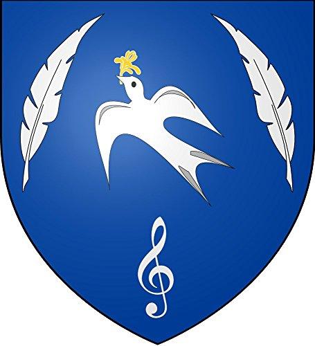 (DIPLOMAT Flagge Lise Thibault Arms | Fahne 0.06m² | 25x23cm für Flags Autofahnen)