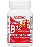 Deva Nutrition - Vegan B12 With Folic Acid B6 Sublingual - 90 Tablets by Deva Nutrition