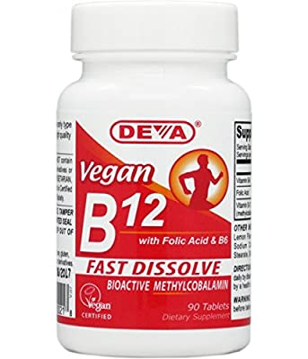 Deva Nutrition - Vegan B12 With Folic Acid B6 Sublingual - 90 Tablets by Deva Nutrition