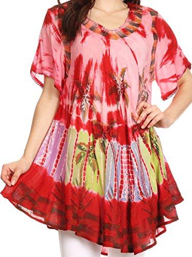 Sakkas Alohanani Dress Caftano / Cover Up Rosso
