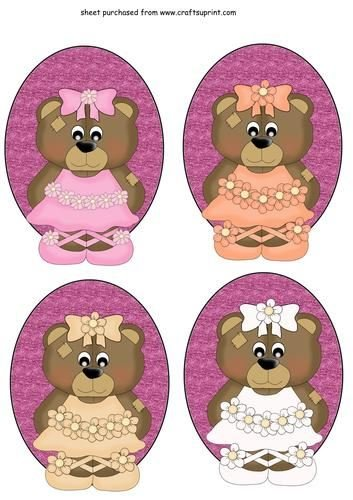 4ballerina Bear Toppers by Stephen Poore