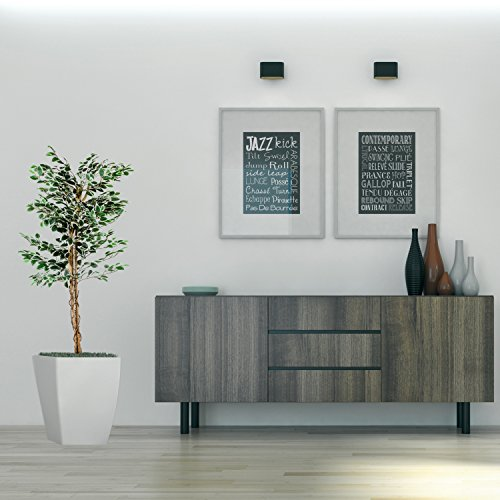 Großer grüner Ficus Baum, Echtholzstamm, Kunstbaum, Kunstpflanze, Dekobaum – Variante: 160 oder 190 cm - 5
