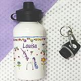 Trinkflasche für Kinder, personalisierbar, Einhorn Flasche, Schule Lunch Tasche Flaschen