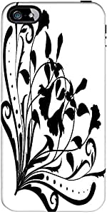 Snoogg Floral Corner Silhouette Designer Case Cover For Apple Iphone 5 / 5S
