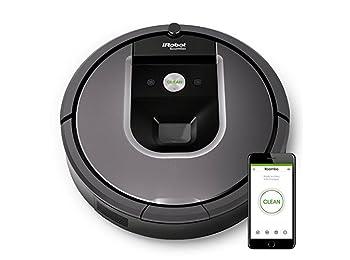 iRobot Roomba 960 Robot Elektrik Süpürgesi, Plastik, Gümüş Siyah