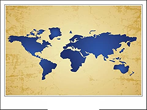 Haehne Modern La carte du monde Toiles en coton Impression Oeuvres Peintures à l'huile Photo Imprimé sur toile Art mural pour les décorations maison à la chamber, 40 *30cm(16 *12Inch),Image seulement