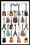 """Pyramid - Póster (61 x 91,5 cm), diseño de guitarras con texto """"Guitar Heaven"""""""