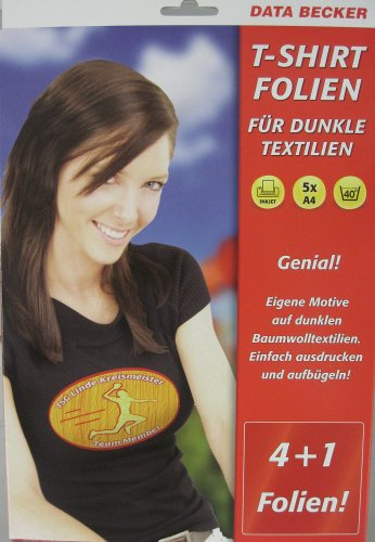 Data Becker T-Shirt Folie für dunkle Textilien