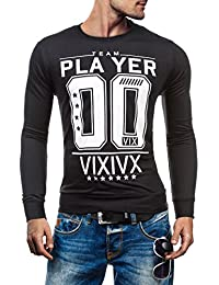 BOLF - Sweat-shirt - Pull de sport – avec impression – HOT RED 2611 - Homme