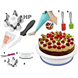 Cake Decoration Tools Set Decorating Turn Full Rotating Round Table with accessories (hpk-India-s5)