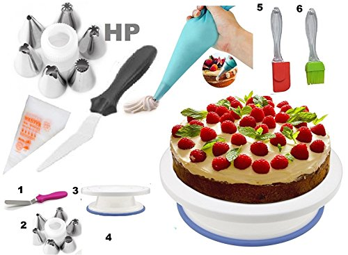 hpk-Plastic-Cake-Decoration-Tools-Set-with-Full-Rotating-Round-Table-Accessories5x3x7cm-Multicolour
