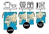 Kikkerland Welt Travel Bags, Set 4