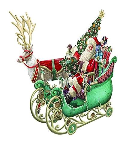 Papier d 'Art Weihnachtskarten–Santa 's Schlitten–3D Pop-Up-Karte