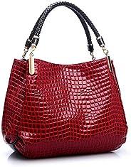 Crocodile design with strap,PU leather handbag for ladies