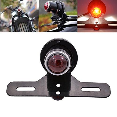 KaTur Motorrad-Bremslicht Schwanz Stop Lampe für Harley Chopper Cruiser Racer Bobber Cafe Custom - Stop-lampe Linse