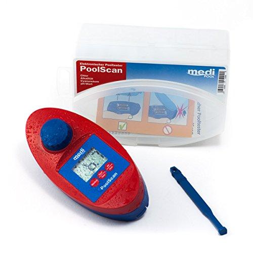 PoolScan - Elektronischer Pooltester für Chlor und pH-Wert Messung von mediPOOL inkl. 60 Testtabletten - Poolwasser - Messgerät für den anspruchsvollen privaten Schwimmbad- und Whirlpool Betreiber (baugleich mit Scuba II ®)