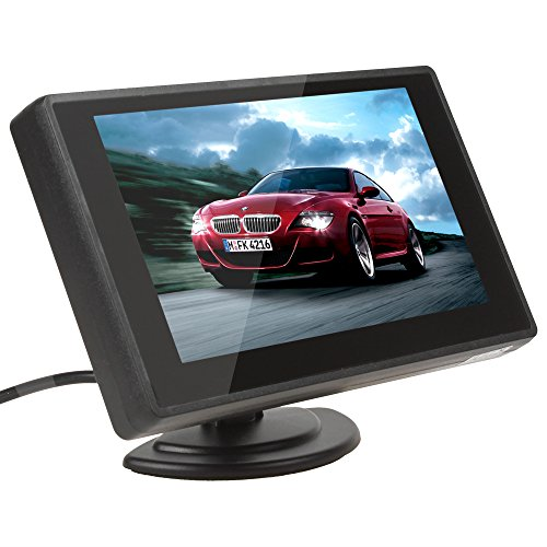 ePathChina 4.3 Zoll Digital TFT LCD Anzeige 2 Video-Eingang Rückfahrkamera Monitor Mini DVD VCR Auto Monitor mit Rückfahrkamera Unterstützung Auto DVD VCD STB Satelliten Receiver und andere Videogeräte