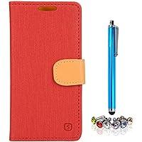 A9H HTC Desire 526G Funda Protectiva Carcasa Cuero Resistente Cierre Magnético,carcasa en folio, soporte plegable,ranuras para tarjetas-red