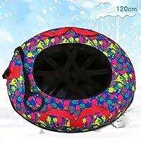 ZHAOK Trineo de Nieve Tubo de Nieve para diversión de Invierno Trineo de Nieve Inflable de 47 Pulgadas para niños y Adultos, Fabricado con Material espesante de 0.3 mm,c