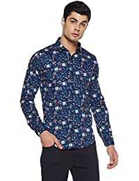 Dennison Men's Floral Slim Fit Casual Shirt
