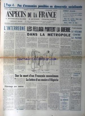 ASPECTS DE LA FRANCE [No 455] du 31/05/1957