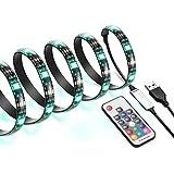 AMIR 2m 60 LED Stripes, RGB LED Streifen mit 17 Tasten Fernbedienung, 20 Farben auswählbar, 19 dynamische Modi, HDTV USB LED TV Beleuchtung LED Stripe für TV-Bildschirm, PC-Monitor, Balkon, Party