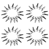 60pcs Pinzas de cocodrilo Pinzas de cocodrilo de Metal Pinzas de cocodrilo de Plomo de Prueba para el Trabajo de Prueba eléctrica (35 mm)