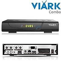 Viark COMBO H265 Receptor satélite y TDT HD + cable HDMI de 2 metros de largo