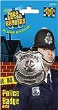 Smiffys Damen und Herren Silberne Metall Polizei Marke, One Size, 22480