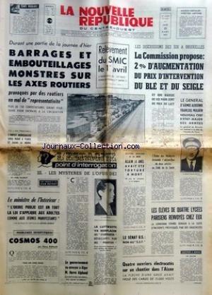 NOUVELLE REPUBLIQUE (LA) [No 8065] du 25/03/1971 -...