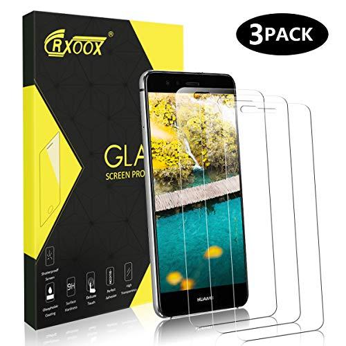 CRXOOX Panzerglas Schutzfolie für Huawei P10 Lite, [3 Stück] 9H Gehärtetem Glas Anti-Öl, Kratzer & Fingerabdrücke Blasenfrei 3D Touch Kompatibel Panzerfolie Bildschirmschutzfolie für Huawei P10 Lite