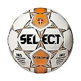 Select Viking-Pallone Cucito, Colore: Bianco/Arancione, Taglia 5