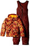 Columbia Buga Set, unisex, State Orange Checkered Print
