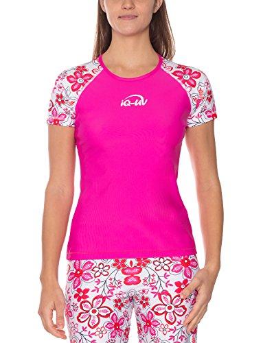 iQ-UV Damen UV-Schutz T-Shirt IQ 300 Watersport Two-Pink, M (40)