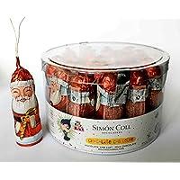 Papa Noel Chocolate con Leche para colgar en Arbol de Navidad SIMON COLL 20 ud (500 g)